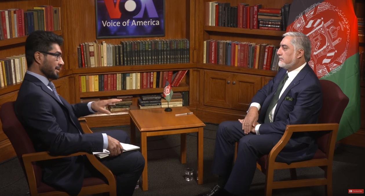 مصاحبه دکتور عبدالله عبدالله با تلویزیون آشنا  صدای آمریکا