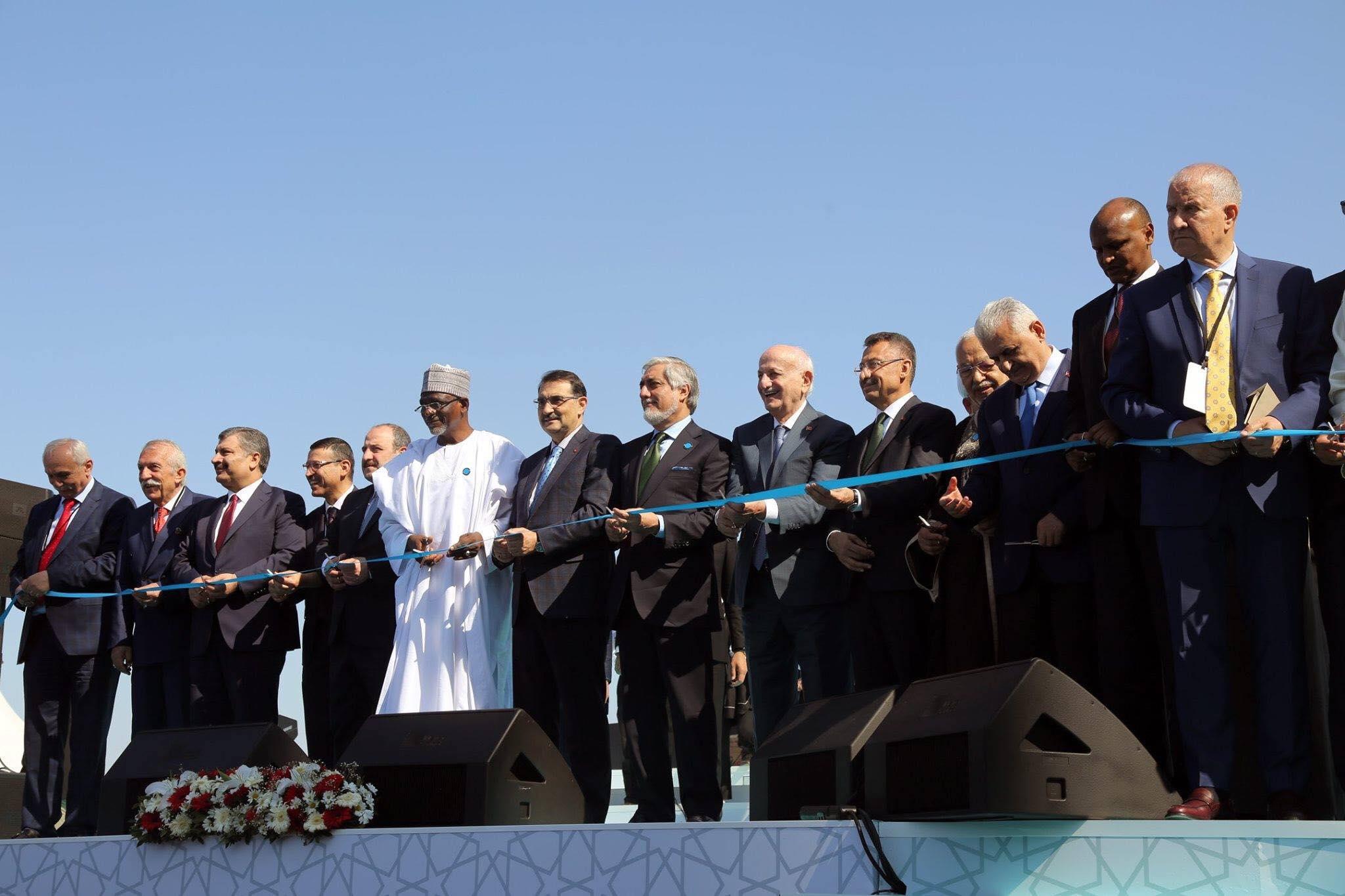پذيرائى از جانب جلالتمأب فوات اوكتاى، معاون رئيس جمهور تركيه به مراسم افتتاح رسمى مسجد جامع چامليجا