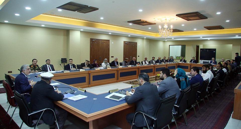 جلسه شورای وزیران تحت ریاست دکتور عبدالله عبدالله رئیس اجرائیه ج. ا.ا