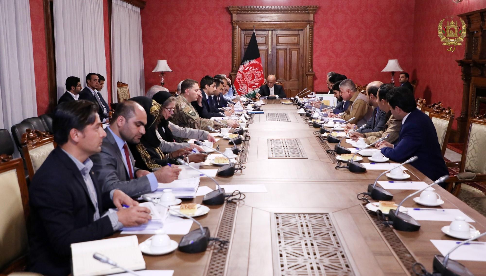 جلسۀ کمیسیون تدارکات ملی
