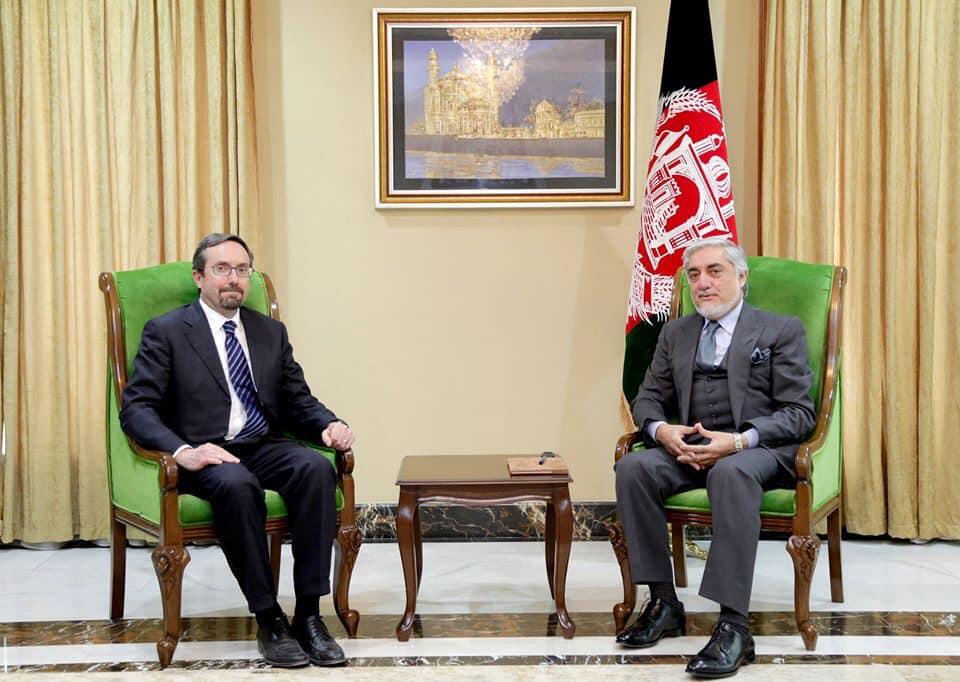 رییس اجراییه با سفیر ایالات متحده امریکا ملاقات کرد