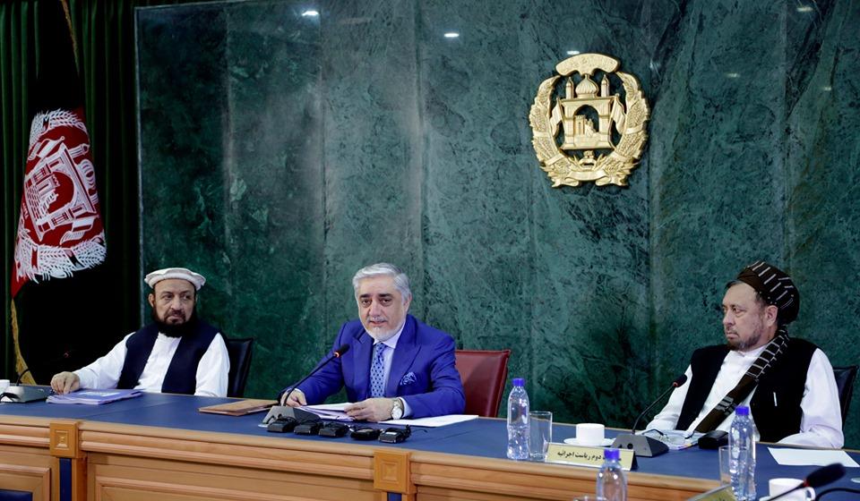 جلسه شورای وزیران تحت ریاست دکتور عبدالله عبدالله رئیس اجرائیه جمهوری اسلامی افغانستان