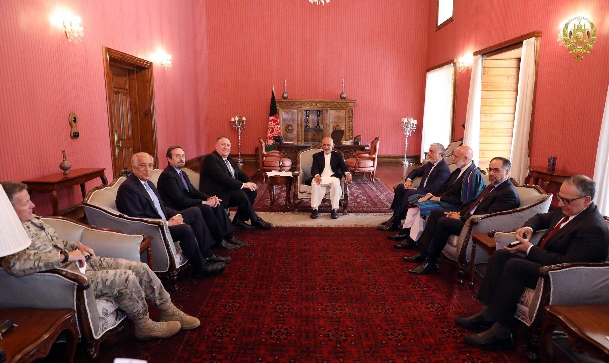 سه شنبه، ٤ سرطان  ديدار رهبران حکومت وحدت ملی با جناب مایک پمپئو، وزیر امورخارجه ایالات متحده امریکا