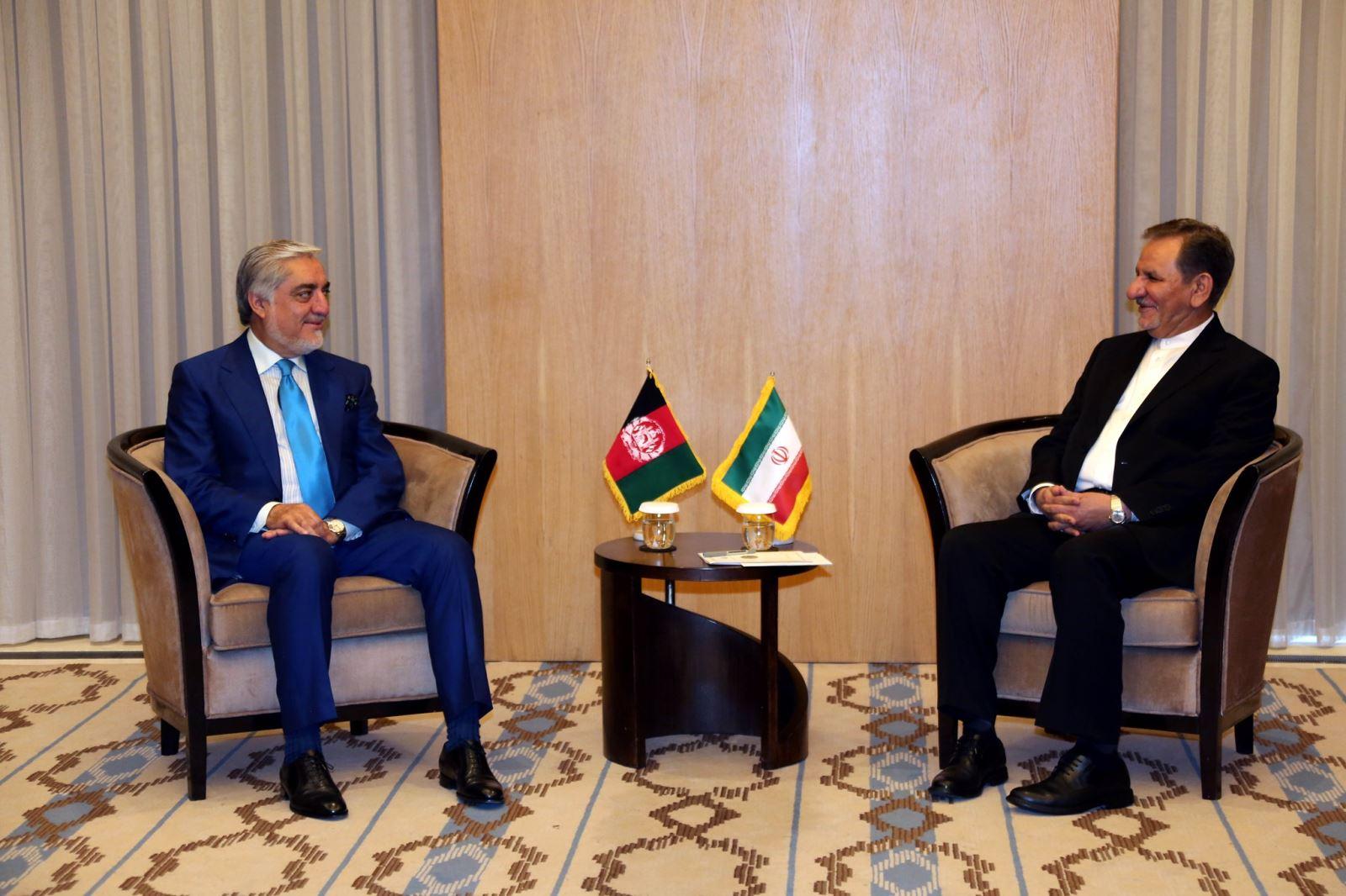 رییس اجراییه افغانستان با معاون اول رییسجمهور ایران ملاقات کرد