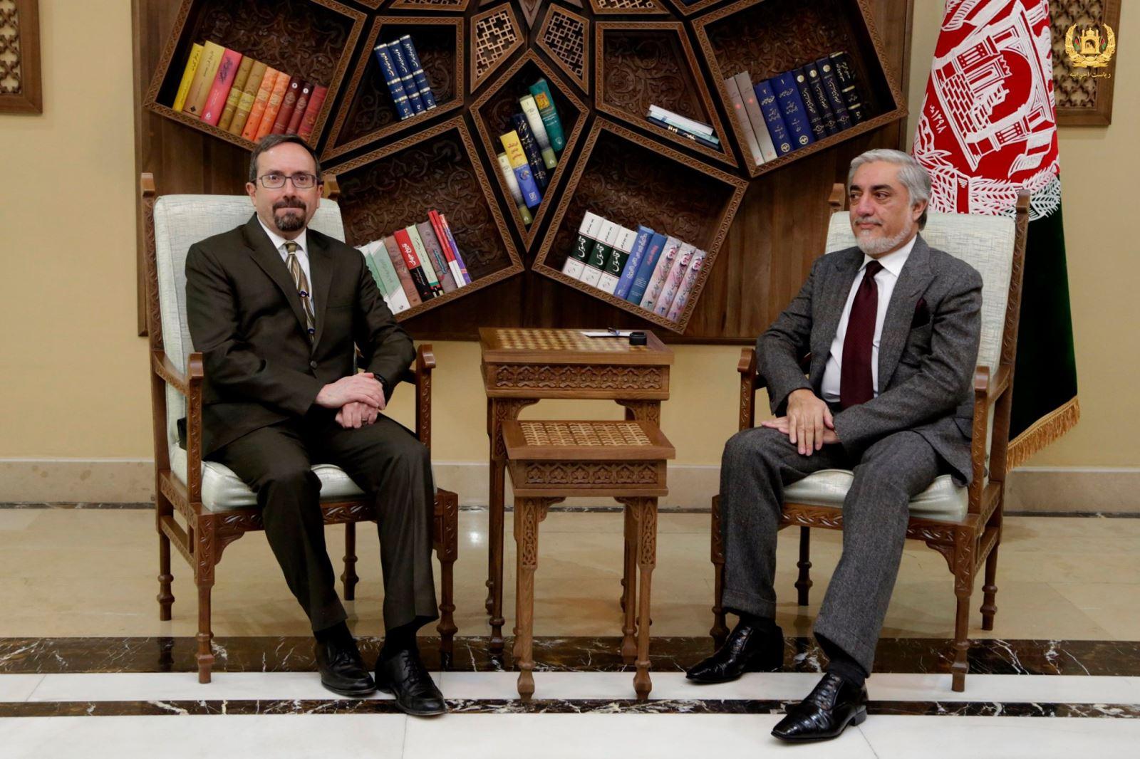 رییس اجراییه با سفیر ایالات متحده امریکا دیدار کرد