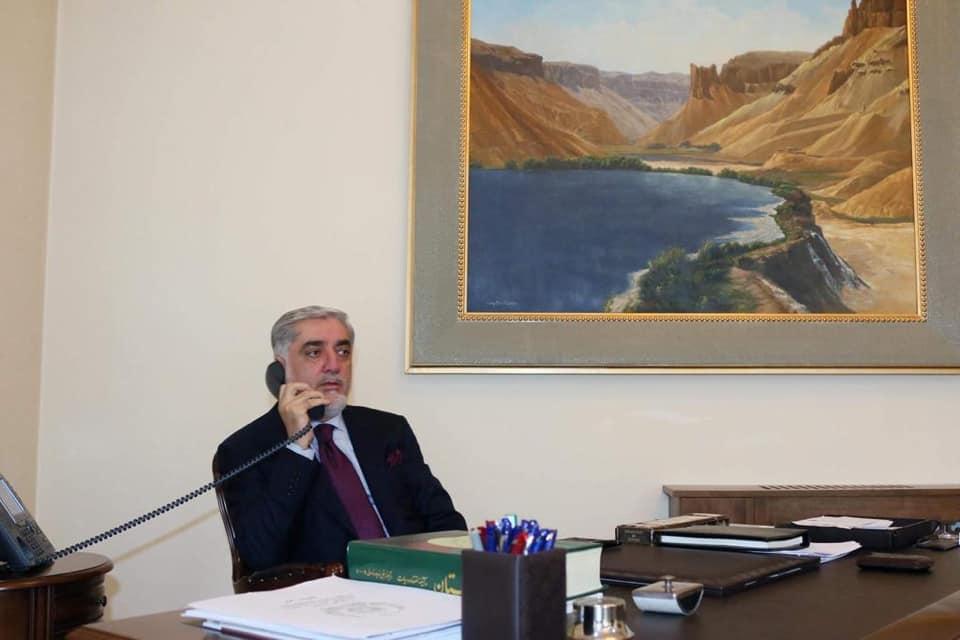 رییس اجراییه با وزیر امورخارجه ایالات متحدهی امریکا تلفنی صحبت کرد
